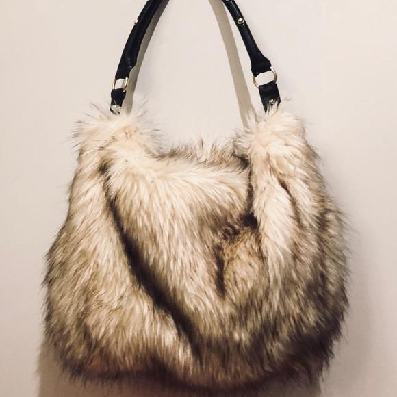 e23f65aff0 H M Handbags - H M Faux Fur Shoulder Bag Purse Handbag